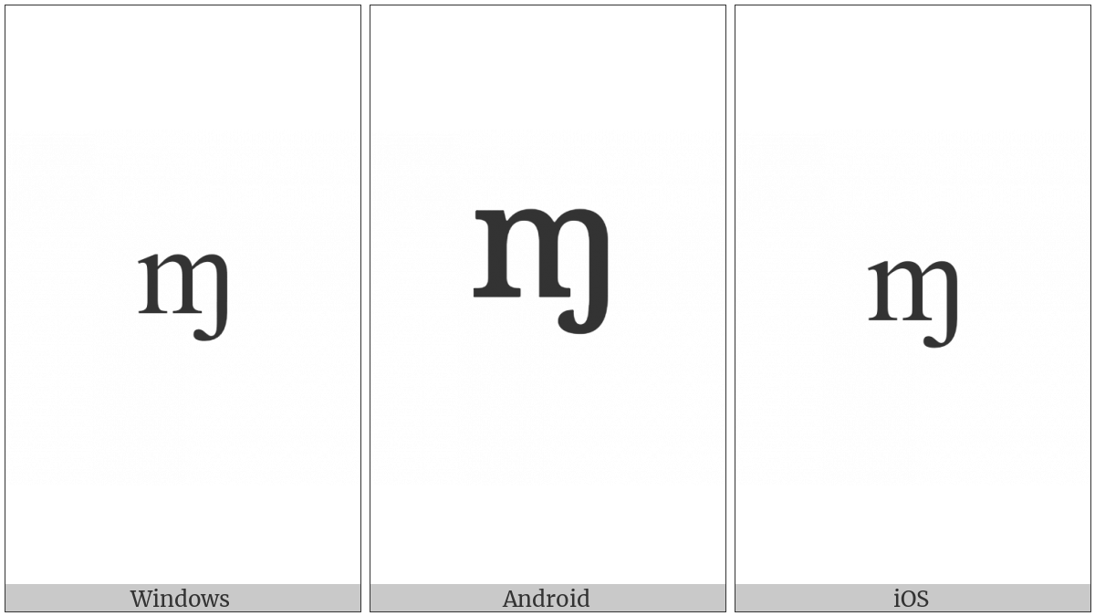 Modifier Letter Small M With Hook on various operating systems