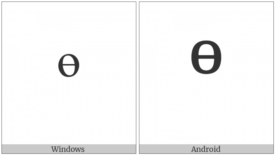 Modifier Letter Small Barred O on various operating systems