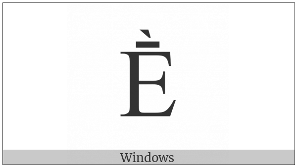 Latin Capital Letter E With Macron And Grave on various operating systems