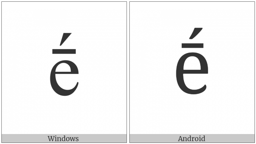 Latin Small Letter E With Macron And Acute on various operating systems