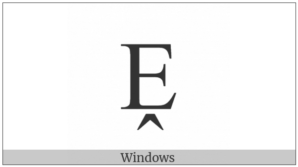 Latin Capital Letter E With Circumflex Below on various operating systems