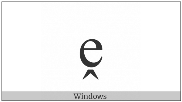 Latin Small Letter E With Circumflex Below on various operating systems