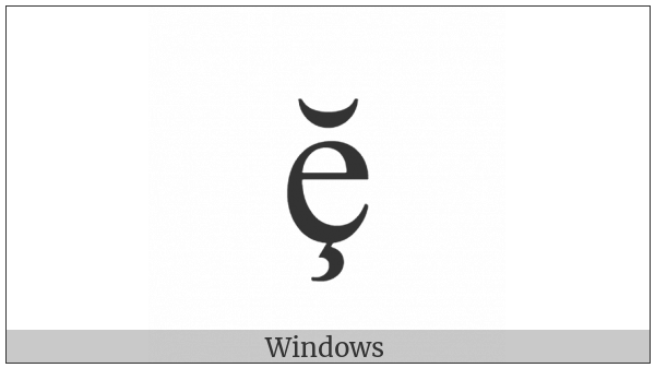 Latin Small Letter E With Cedilla And Breve on various operating systems