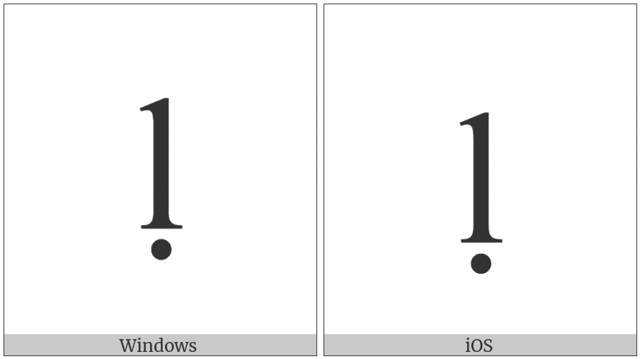 Latin Small Letter L With Dot Below on various operating systems