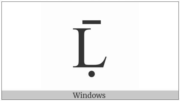 Latin Capital Letter L With Dot Below And Macron on various operating systems