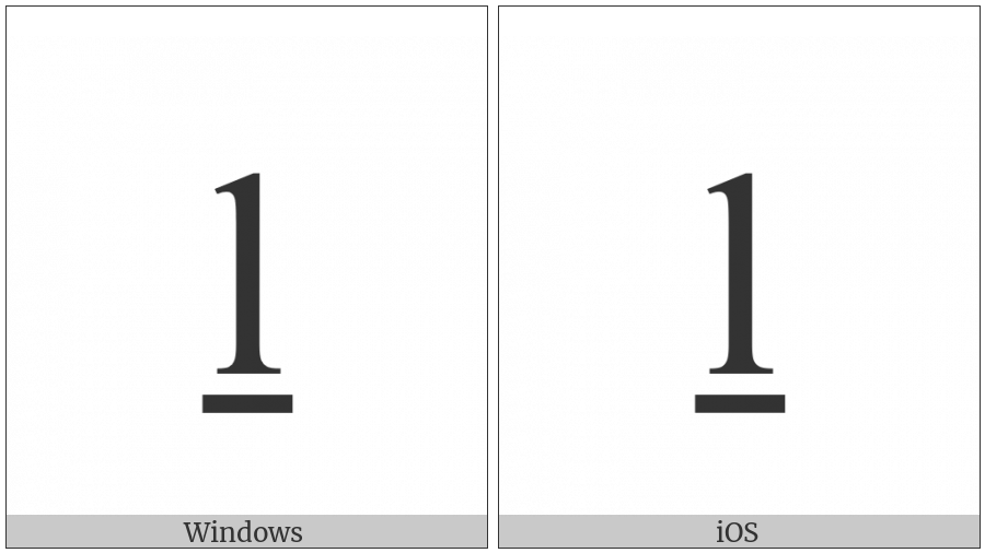 Latin Small Letter L With Line Below on various operating systems