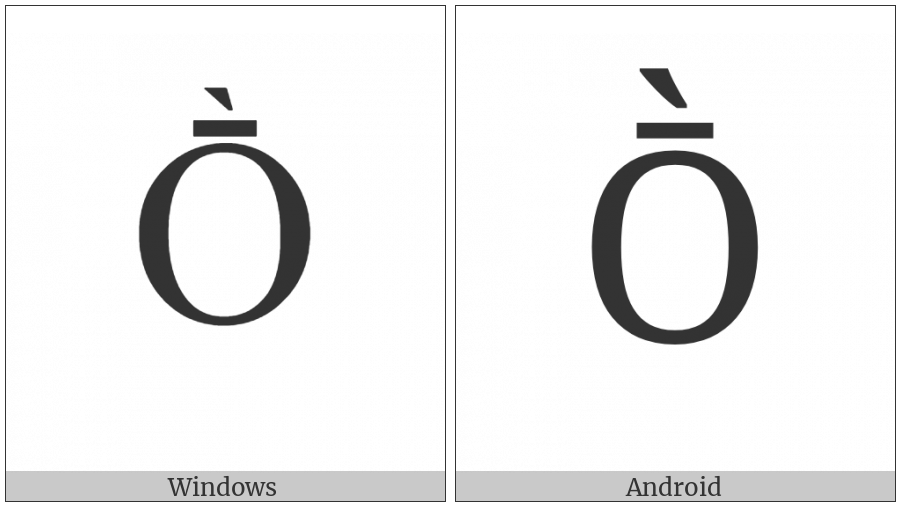 Latin Capital Letter O With Macron And Grave on various operating systems