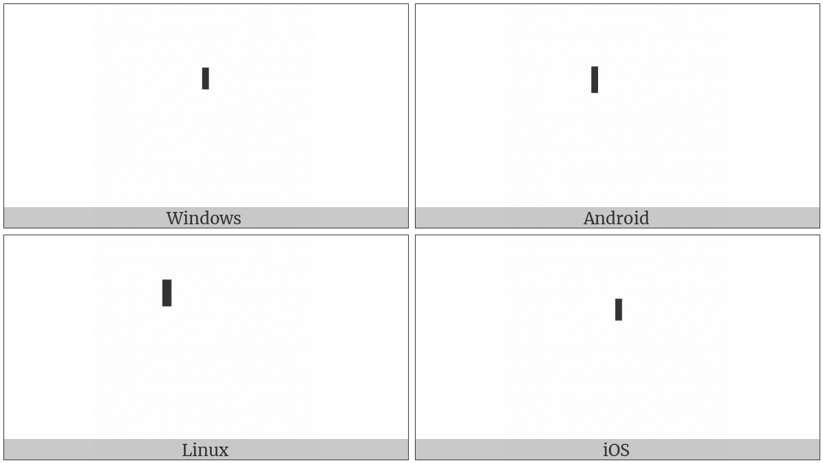 Combining Vertical Line Above on various operating systems