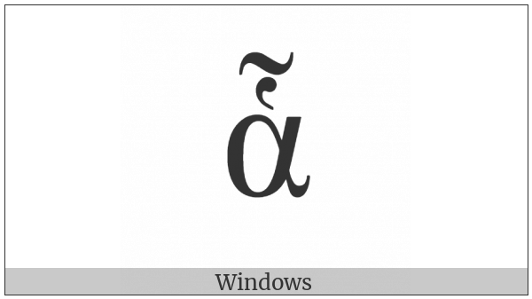 Greek Small Letter Alpha With Dasia And Perispomeni on various operating systems