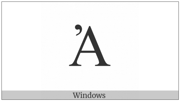 Greek Capital Letter Alpha With Psili on various operating systems