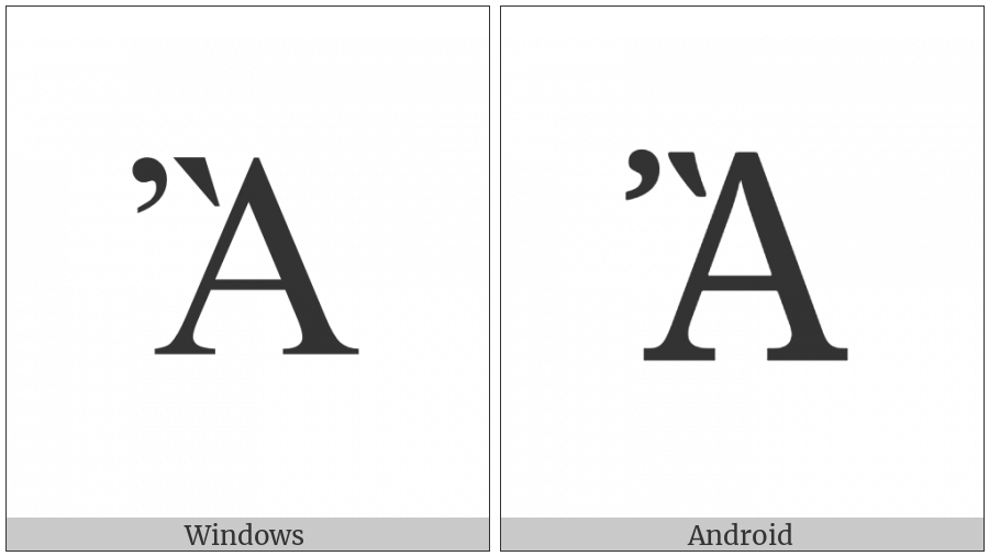 Greek Capital Letter Alpha With Psili And Varia on various operating systems