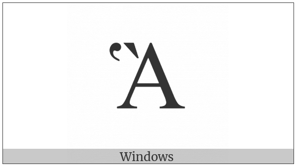 Greek Capital Letter Alpha With Dasia And Varia on various operating systems