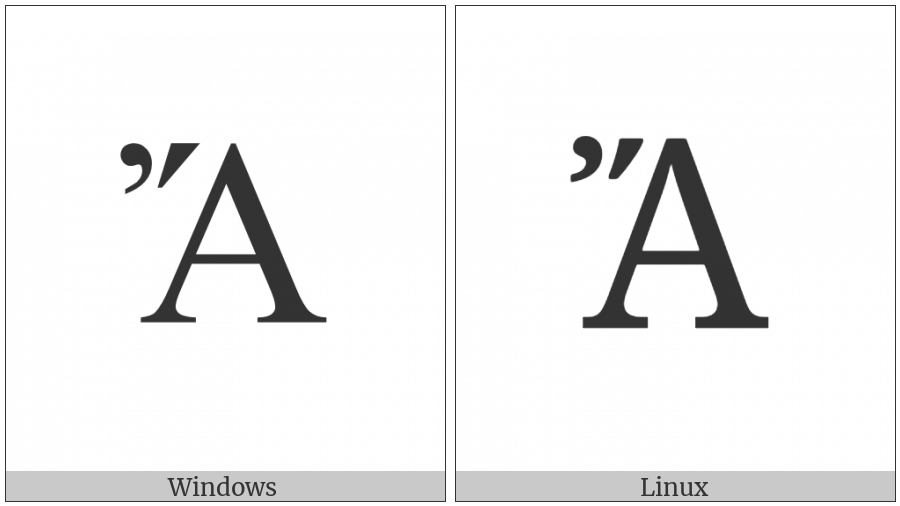 Greek Capital Letter Alpha With Psili And Oxia on various operating systems