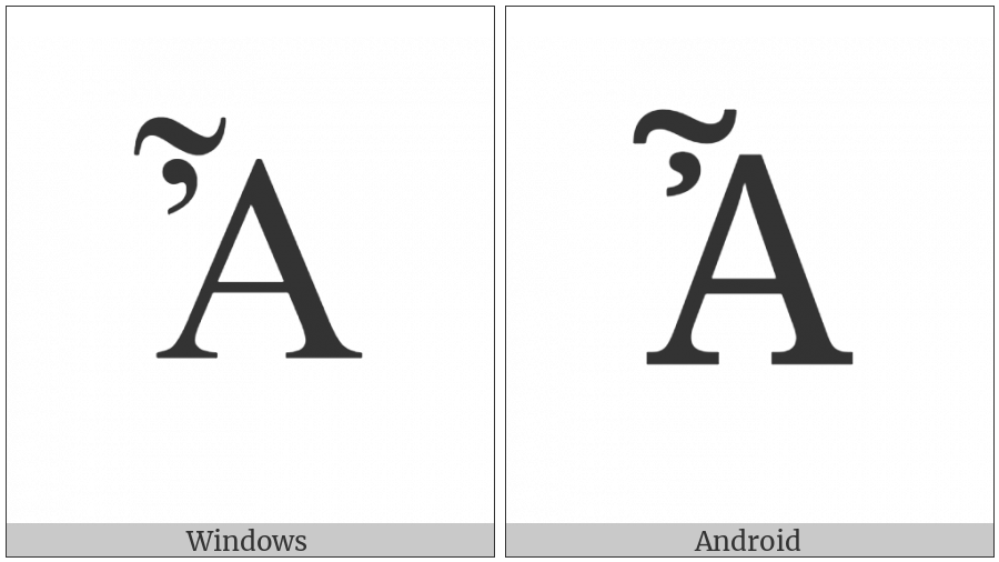 Greek Capital Letter Alpha With Psili And Perispomeni on various operating systems