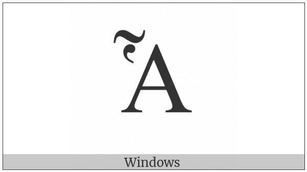 Greek Capital Letter Alpha With Dasia And Perispomeni on various operating systems