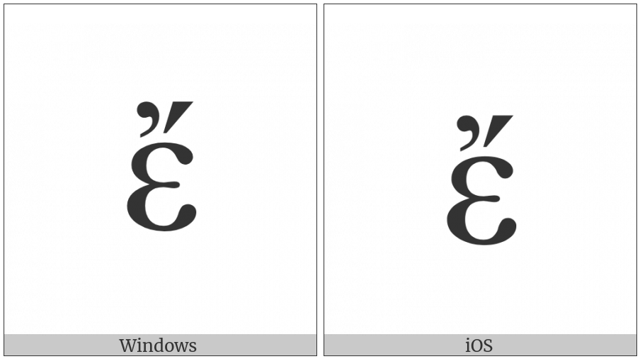 Greek Small Letter Epsilon With Psili And Oxia on various operating systems