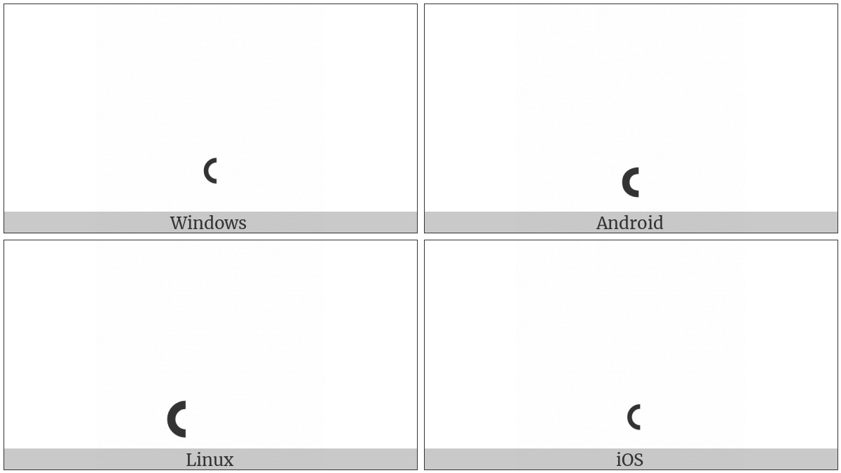 Combining Left Half Ring Below on various operating systems