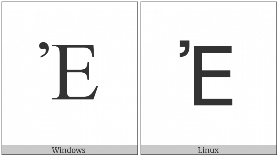 Greek Capital Letter Epsilon With Psili on various operating systems