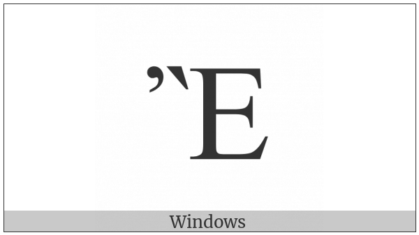 Greek Capital Letter Epsilon With Psili And Varia on various operating systems