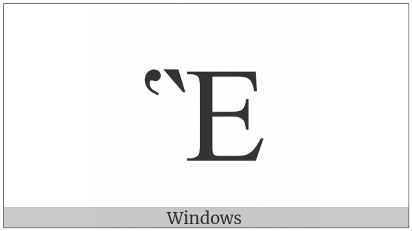Greek Capital Letter Epsilon With Dasia And Varia on various operating systems