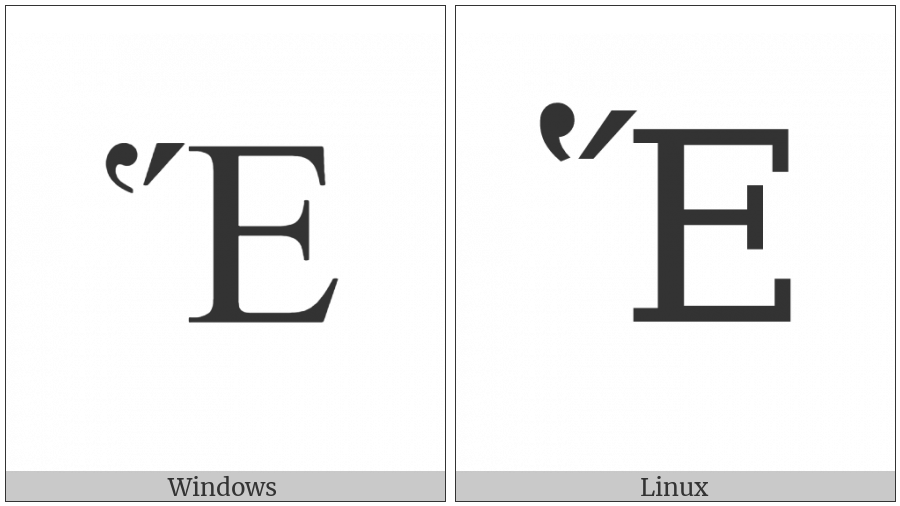 Greek Capital Letter Epsilon With Dasia And Oxia on various operating systems