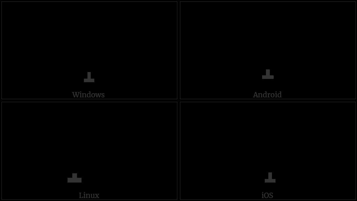COMBINING UP TACK BELOW utf-8 character