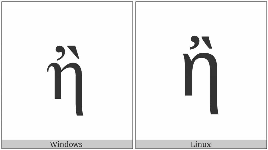 Greek Small Letter Eta With Psili And Varia on various operating systems