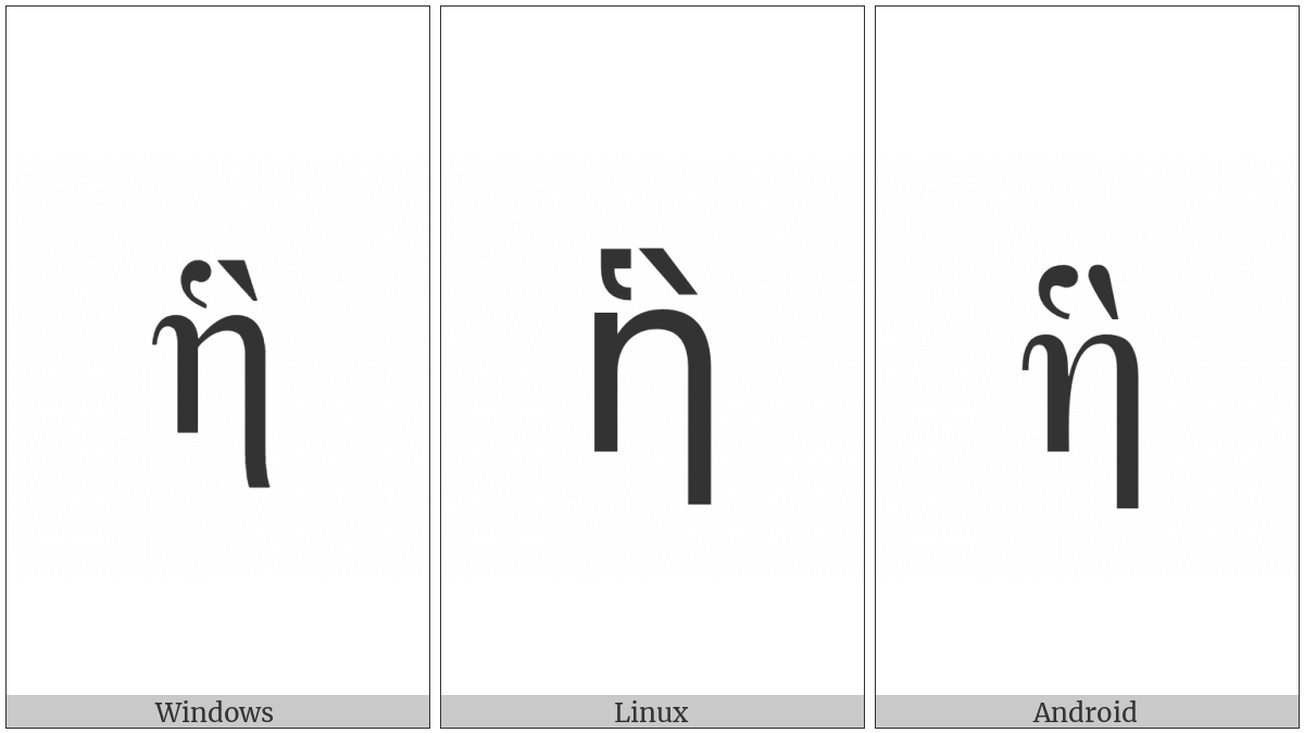 Greek Small Letter Eta With Dasia And Varia on various operating systems