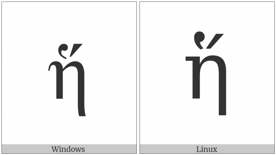Greek Small Letter Eta With Dasia And Oxia on various operating systems