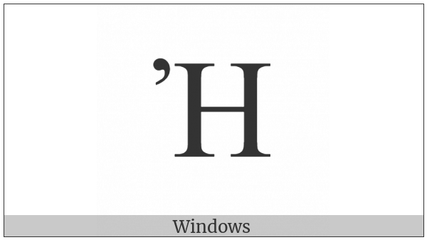 Greek Capital Letter Eta With Psili on various operating systems