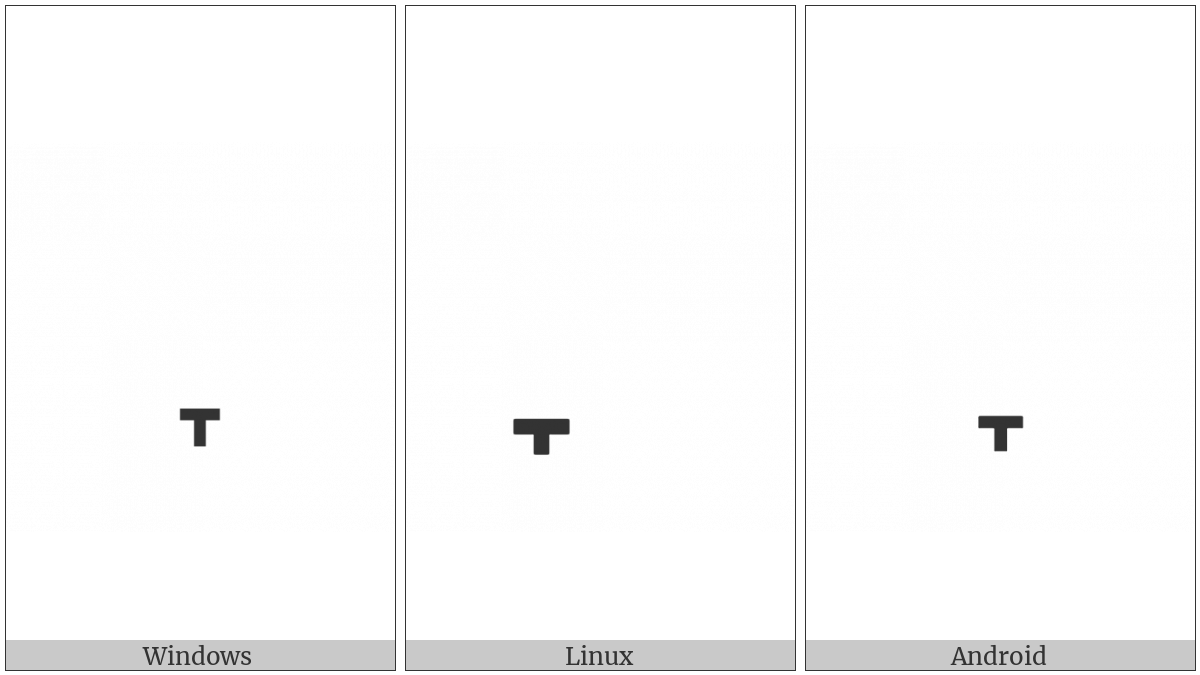 COMBINING DOWN TACK BELOW utf-8 character