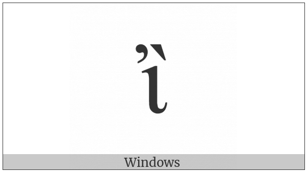 Greek Small Letter Iota With Psili And Varia on various operating systems