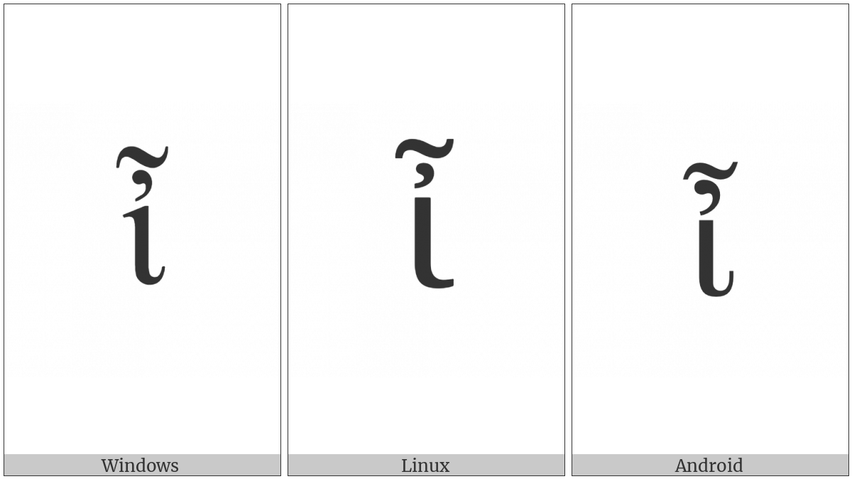 Greek Small Letter Iota With Psili And Perispomeni on various operating systems
