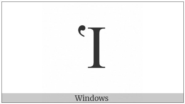 Greek Capital Letter Iota With Dasia on various operating systems