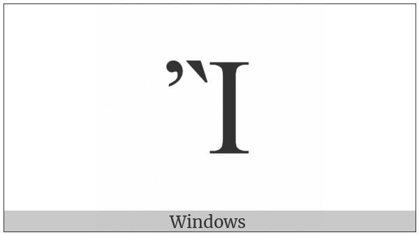 Greek Capital Letter Iota With Psili And Varia on various operating systems