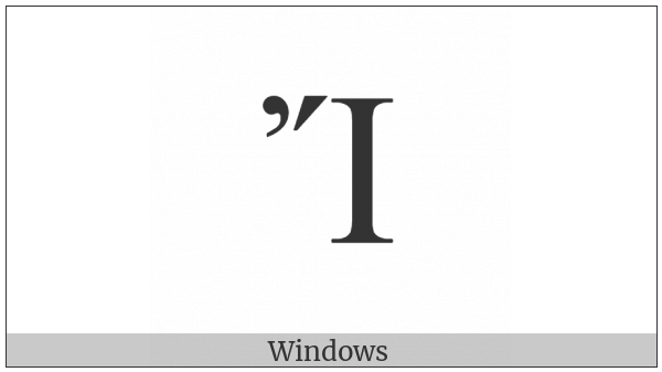 Greek Capital Letter Iota With Psili And Oxia on various operating systems
