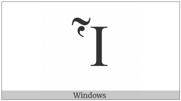 Greek Capital Letter Iota With Dasia And Perispomeni on various operating systems