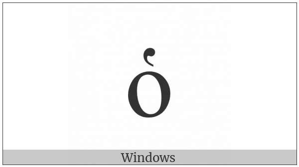 Greek Small Letter Omicron With Dasia on various operating systems