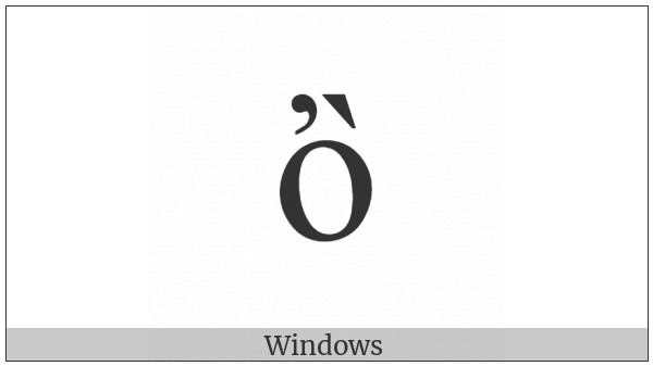 Greek Small Letter Omicron With Psili And Varia on various operating systems