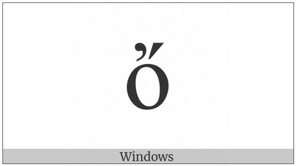 Greek Small Letter Omicron With Psili And Oxia on various operating systems