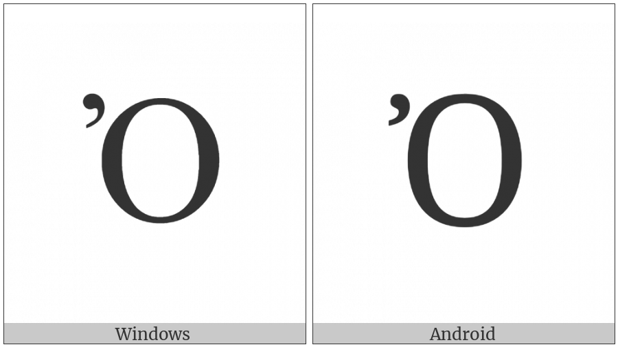 Greek Capital Letter Omicron With Psili on various operating systems