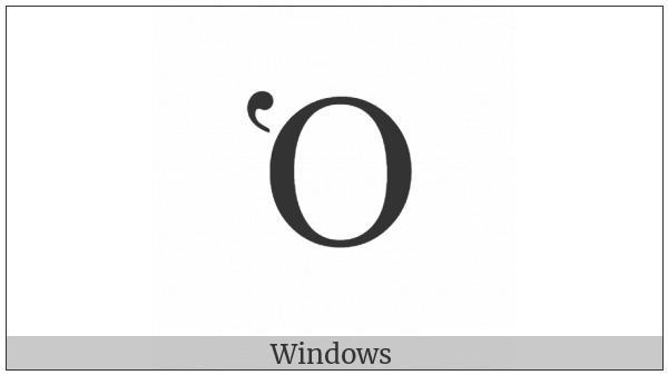 Greek Capital Letter Omicron With Dasia on various operating systems