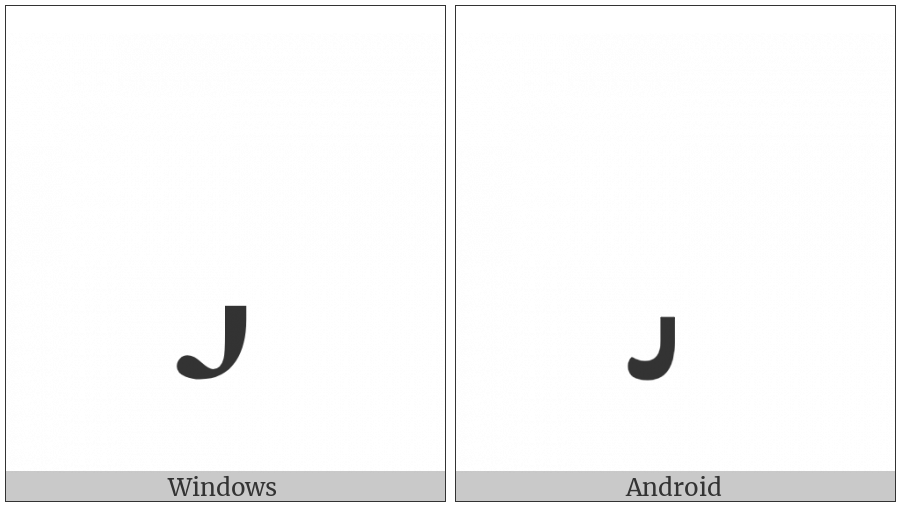 Combining Palatalized Hook Below on various operating systems