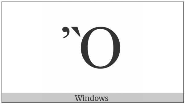 Greek Capital Letter Omicron With Psili And Varia on various operating systems