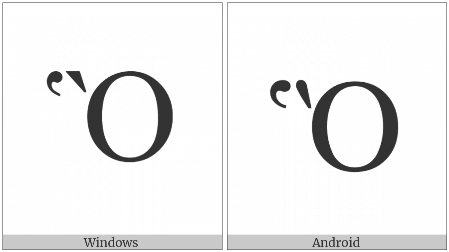 Greek Capital Letter Omicron With Dasia And Varia on various operating systems