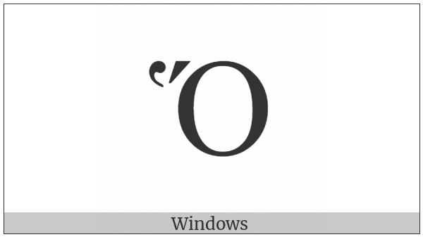 Greek Capital Letter Omicron With Dasia And Oxia on various operating systems