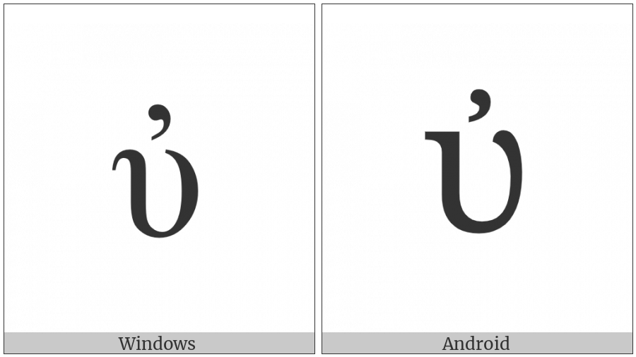 Greek Small Letter Upsilon With Psili on various operating systems
