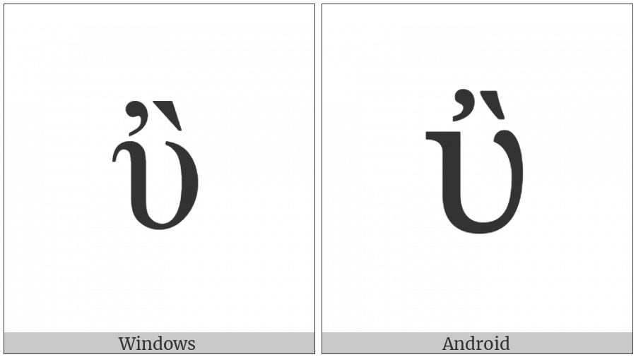 Greek Small Letter Upsilon With Psili And Varia on various operating systems