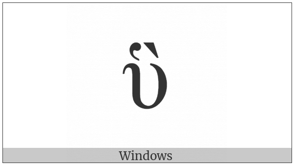 Greek Small Letter Upsilon With Dasia And Varia on various operating systems