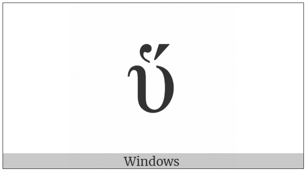 Greek Small Letter Upsilon With Dasia And Oxia on various operating systems